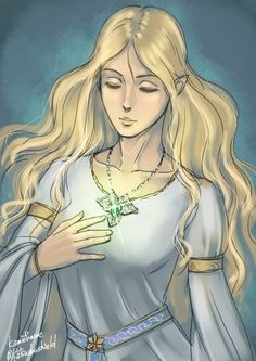 Celebrian and the jewel that was eventually given to Aragorn.