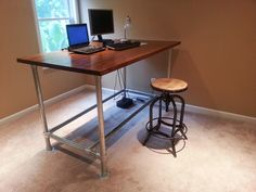 Custom Standing Desk by Simplified Building Concepts, via Flickr