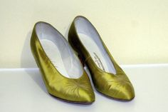 Vintage  1950s Mademoiselle Shoes Chartreuse by mannequinreject, $25.00