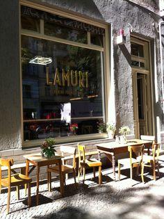 TXL Check this out : Lamuri, lunch Berlin Cafe, Berlin Street, Best Bars In Berlin, Prenzlauer Berg Berlin, Restaurants, Italian Deli, French Exterior, Window Signs, Café Bar