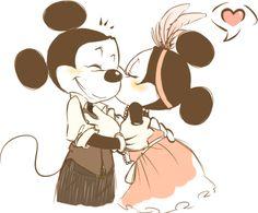 love mickey and minnie.
