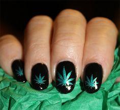 Rasta weed nails nails pinterest makeup dope nails and nail free shipping green metallic pot leaves nail art by northofsalem prinsesfo Gallery