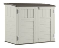 Suncast Horizontal Outdoor Storage Shed for Backyards and Patios 34 Cubic Feet Capacity for Garbage Cans, Tools and Garden Accessories, Vanilla Suncast Storage Shed, Backyard Storage Sheds, Patio Storage, Wood Storage Sheds, Locker Storage, Bike Storage, Storage Boxes, Storage Ideas, Garbage Can Storage