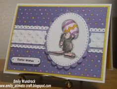 I love House Mouse stamps!!  What a sweet Easter card!