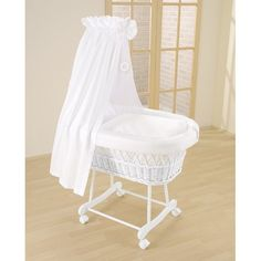 Leipold Topas Stubenwagen Drape Crib has soft ecologically cultivated cotton fabrics providing a comfortable environment for your child with style Bedside Bassinet, Baby Bassinet, Baby Cribs, Side Sleeping Crib, Best Changing Table, Moses Basket Stand, Comfort Mattress, White Wicker, Baby Blog