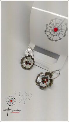 Yanne Jewelry Works - Katalin Rakoczy earrings, sterling, enamel all rights reserved