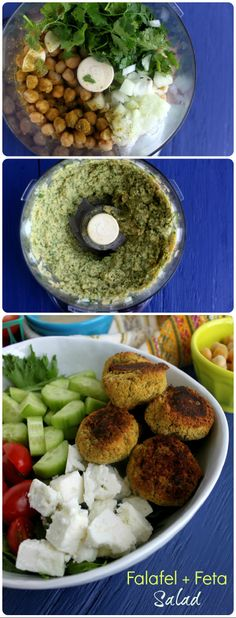 Baked Falafel + Feta Cheese Salad - Gluten-free and all good {From Jewhungry}