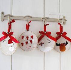 Christmas Hoop Decoration