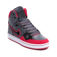 Shop for Tween Nike Son Of Force Athletic Shoe in Gray at Journeys Kidz. Shop today for the hottest brands in mens shoes and womens shoes at JourneysKidz.com.Primed for victory in trendy retro style, the Nike Son of Force rocks a high top design with a synthetic upper, perforated vamp and side panel, lace closure, padded collar, and rubber traction outsole.