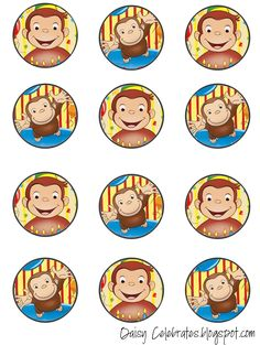 http://daisycelebrates.blogspot.com/2015/10/curious-george-birthday-party-free.html                                                                                                                                                                                 Más