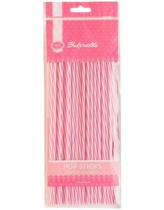 Striped Pink White Pop Sticks, Candy Chocolate Lollipop Sticks, Candy Crafting Supplies, Candy Molds Sticks, Party Candy Birthday Favors by Deco4PartyCake on Etsy