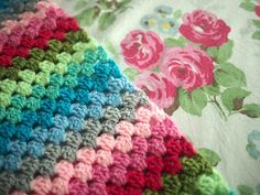 Adventures of City Girl, Country Girl: Cathalike: Granny Stripe Crochet Blanket (WIP)