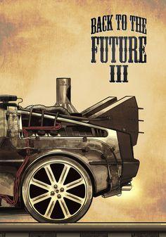 Back to the future III Art Print by Duke.Doks | Society6