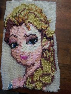 Rainbow Loom Frozen , Elsa Elsa .used over 5,000 bands so proud of this Finshed April 18 2014 MADE BY HEATHER OSBORNE CANADA ONTARIO