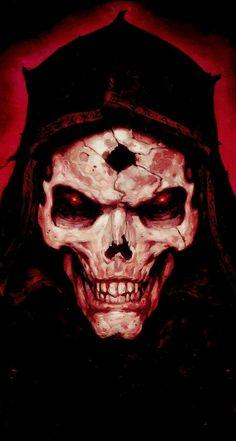 More at Mike Vands 😈 Arte Horror, Horror Art, Evil Skull Tattoo, Grim Reaper Art, Zombie Monster, Heavy Metal Art, Beautiful Dark Art, Satanic Art, Skull Pictures