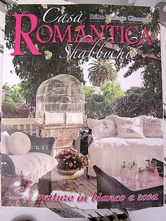 Our back yard deck also on the BACK COVER of Italian magazine, Casa  Romantica!