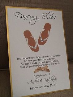 5b587c285 Details about Handmade Personalised Flip Flop Dancing Shoes Basket Sign -  Many colours