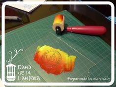 Jugando con distintas tintas para sello de invitación a Despedida de Soltera