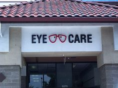 2 color Foam sign with logo in a shopping Center in San Jose, Ca making it easy to find the eye doctor. Custom Signs 408-605-3435 / clamkinman@comcast.net