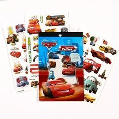$3.89   Amazon.com: Disney's Cars Temporary Tattoo Book Party Accessory: Toys & Games