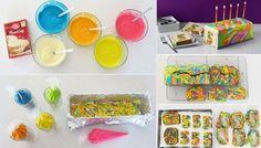 DIY Rainbow Tie Dye Surprise Cake Tutorial 1