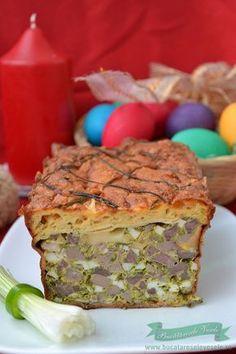 Drob de Miel in clatite cu crusta de cascaval Mince Meat, Romanian Food, Easter Dinner, Carne, Sandwiches, Appetizers, Dishes, Breakfast, Drinks