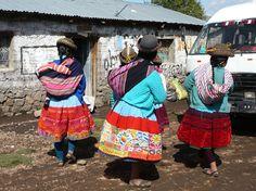las amigas... en los andes Peruanos.