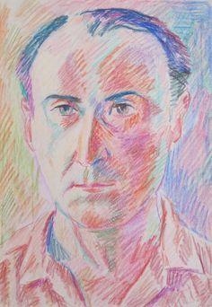"Pablo Felipe Villegas Mañé ""Retrato III"" Pastel sobre papel  32 x 22 cm. Año 1975  http://www.portondesanpedro.com/ver-producto.php?id=12438"