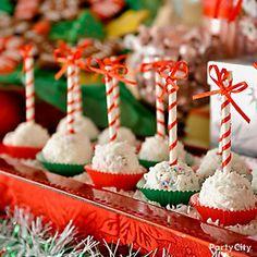Create a festive cake pops display