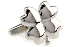 """Super Lucky Silver Four Leaf Clover with Gift Box Cufflinks Cuff Links Silver Smith. $19.88. Free Gift Wrapping with each order!. Approximately 3/4"""" x 1/2"""". Comes packaged in a Limited Edition Collectors Storage Box!"""