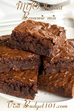 MYO Instant Brownie Mix- Just add WATER. Move over Betty Crocker, here comes a simple do it yourself, make at home Super Fudge Brownie mix that only requires water before it hits the oven and bakes into mouth-watering scrumptious Thick Chewy Fudge Brownies! (Click on photo for recipe)