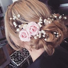 Beautiful Bridal Hair by Jenni our Stylist at Francesco Group Newport, Shropshire 01952 825821