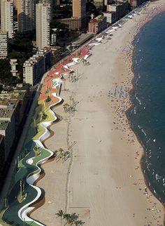 Architect Day: OAB – Carlos Ferrater  Watch video about: http://www.archdaily.com/82208/benidorm-west-beach-promenade-oab/