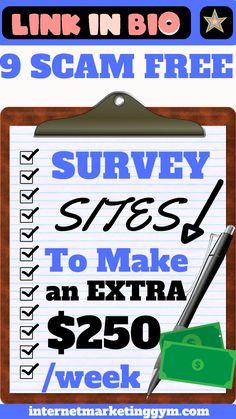 Online Survey Sites, Online Surveys For Money, Survey Sites That Pay, Earn Money Online, Legit Paid Surveys, Cash Surveys, Make Money Taking Surveys, Make Money From Home, Way To Make Money