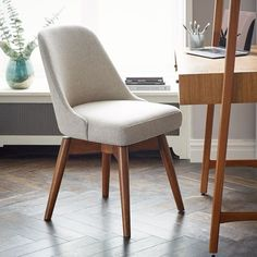 west elm Mid-Century Swivel Office Chair - Office Chair - Ideas of Office Chair - Mid-Century Office Chair Painted Stripe at West Elm Office Furniture Desk Chairs Seating Office Guest Chairs, Swivel Office Chair, Home Office Chairs, Home Office Furniture, Furniture Stores, Furniture Online, Modern Furniture, Small Office Chair, Furniture Design