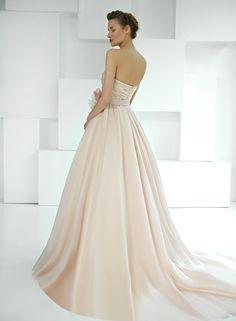 Amazing Blush! One Shoulder Wedding Dress, Blush, Wedding Dresses, Amazing, Fashion, Bride Dresses, Moda, Bridal Gowns, Alon Livne Wedding Dresses