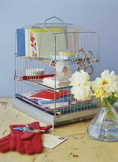diy desk organizer or catchall