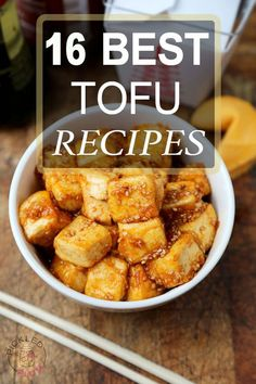 16 Easy Tofu Recipes that will make your rediscover and fall in love with bean curd! http://www.pickledplum.com/16-best-tofu-recipes/: