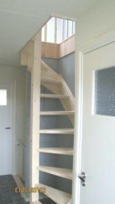 Loft stairs in floor-opening loft ladder Beijes Stairs & Construction # interior design ideas Loft Staircase, Attic Stairs, Attic Ladder, Loft Ladders, Garage Stairs, Attic Loft, Attic Renovation, Attic Remodel, Loft Room