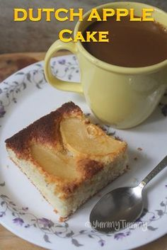 Super moist and soft dutch apple cake which has a soft texture inside but it has a sweet apple layer and a crunchy sugary top. Easiest Pineapple Cake Recipe, Easy Pineapple Cake, Dessert Dishes, Köstliche Desserts, Delicious Desserts, Rachel Allen, Apple Cake Recipes, Nutella Recipes, Apple Cakes
