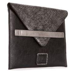 c5e2f0a18b Céline Dion iPad clutch with Snake Print Black