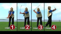 5 basics for golf swing:  push club past toe line, on back swing angle wrist up, rotate shoulder, rehinge wrist on finish, rotate body towards target