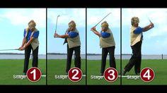 5 basics for golf swing:  push club past toe line, on back swing angle wrist up, rotate shoulder, rehinge wrist on finish, rotate body towards target