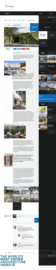 Archdaily - Redesign Study on Web Design Served