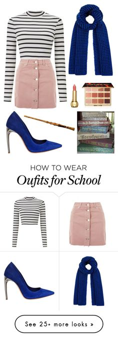 """Hogwarts Teacher"" by theatrekid24601 on Polyvore featuring Miss Selfridge, Topshop, Alexander McQueen and tarte"