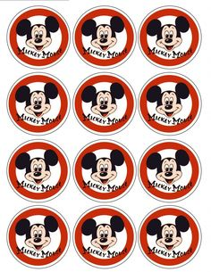 Mickey Mouse Cupcake Toppers (2)