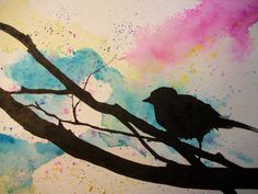 yes the water color but with the shadow of the two birds on one branch that I fell in love with!! I think I finally have something to go to a tattoo parlor with!!!! so exited!!