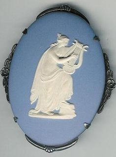 Brooch Wedgwood, Erato Muse Of Amorous Poetry