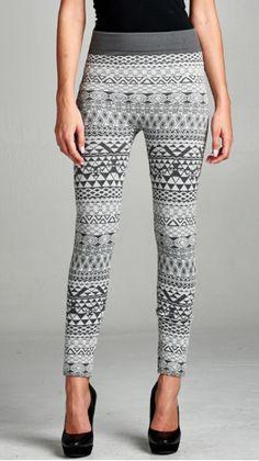 Grey Geometric Leggings