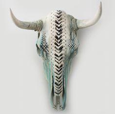 Home Decor Industrial Hand Painted Cow Skull.Home Decor Industrial Hand Painted Cow Skull Cow Skull Decor, Cow Skull Art, Ram Skull, Skull Hand, Skull Artwork, Bull Skulls, Deer Skulls, Painted Animal Skulls, Boho